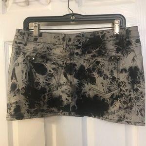 Element denim mini skirt